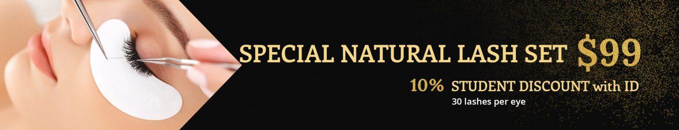 Special Natural Lash Set Banner
