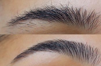 brow shaping Before & After